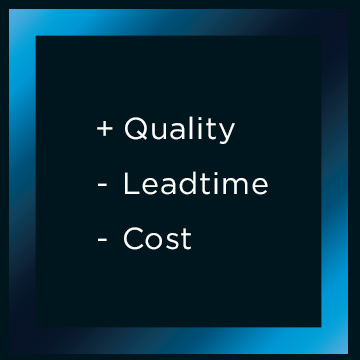 Teccam's Goals: Higher quality, shorter deadlines, and cost reduction