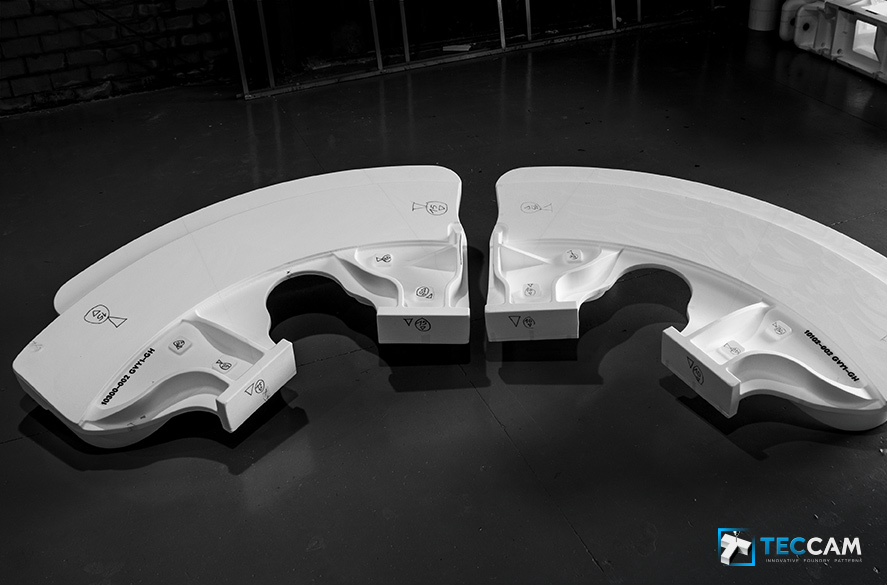 Polystyrene model for verrieglungsbremsleiste