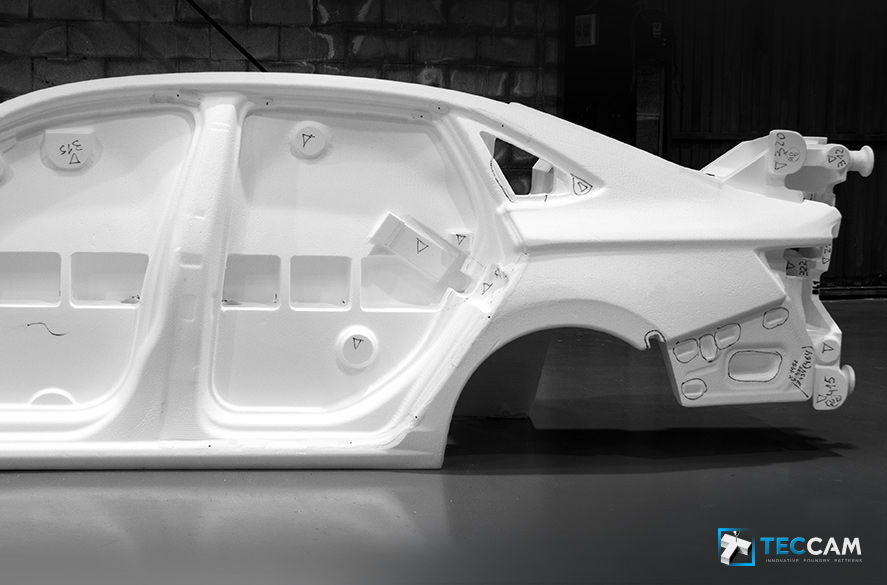 Polystyrene model for Volkswagen vehicle side